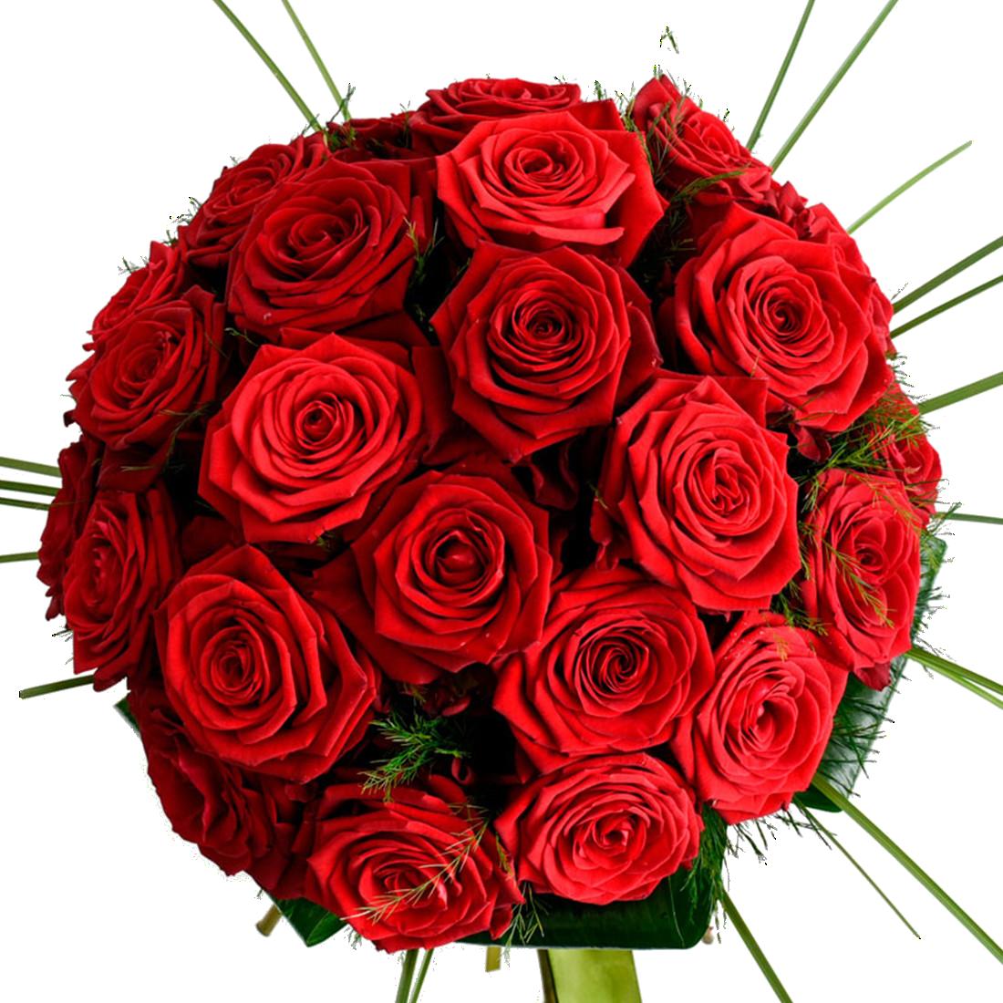 Bouquet Rose Rosse Tondo Red Passion shop online