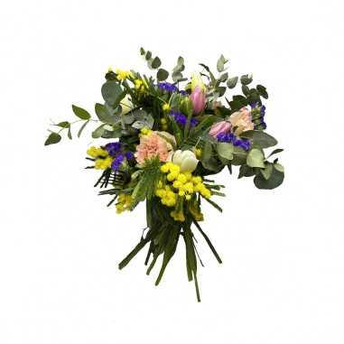 Bouquet Garofani-Tulipani e Mimosa shop online